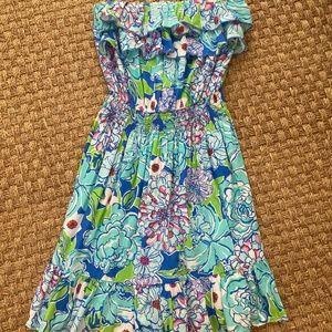 Lilly Pulitzer Summer Strapless Dress Size Small